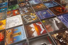 Metal CD albums royalty free stock photo