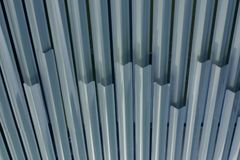Metal Ceiling. Metal stripes make for a decorative ceiling Stock Image