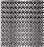 Metal cell. Metallic background with a hexagonal mesh top Royalty Free Stock Photography