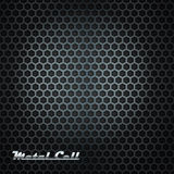 Metal cell background with shining label Stock Photography
