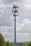 Metal Cell Tower. Today communication is everything.  This sturdy metal tower supports communication equipment and is designed to outlast severe weather Stock Photos