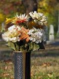 Metal Cemetery Vase stock photo