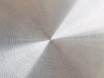 Metal cepillado circular imagenes de archivo