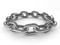 Metal chain Stock Images