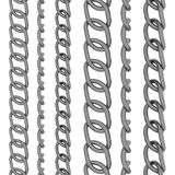 Metal chain - 6 views Royalty Free Stock Photos