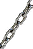Metal chain. On the white background Royalty Free Stock Photos
