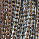 Metal chain background Stock Image