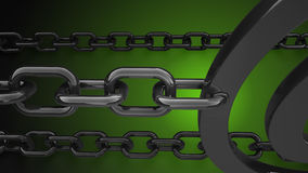 Metal chain background 3d render. Metal chain background abstract 3d render Royalty Free Stock Image