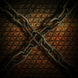 Metal chain background Stock Images