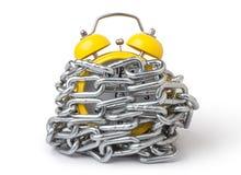 metal chain bundled alarm clock Stock Photos