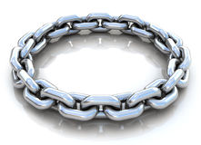 Metal chain circle over Royalty Free Stock Photos