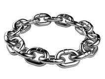Metal chain circle. teamwork concept Stock Images