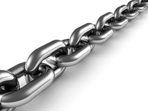 Metal chain close up on white background Stock Photos