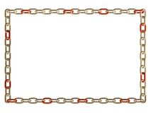 Metal chain frame Stock Photo