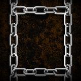 Metal chain frame Royalty Free Stock Images