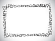 Metal chain frame. Stock Photography