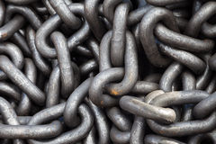 Metal chain heap texture Stock Photography