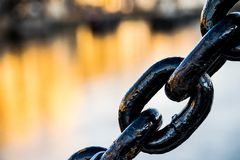 Metal chain link royalty free stock photos