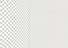 Metal Wire Fence on White Background Illustration Stock Images