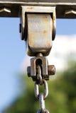 Metal chain link fixing Stock Photo