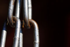 Metal chain links close up. Stock Photography