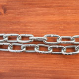 Metal chain links and lock Stock Photo