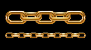 Metal chain links Stock Image