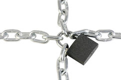 Metal chain and lock Stock Images