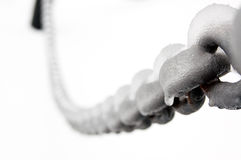 Metal chain macro Royalty Free Stock Photo