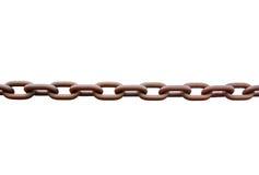 Metal chain orange loop pull on white background Stock Photos