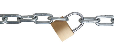 metal chain and padlock Stock Photos