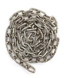 Metal chain on white Royalty Free Stock Photography