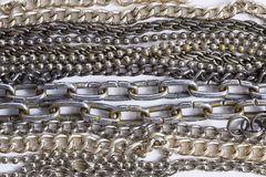 Metal chain. Metal chain on white background Stock Images