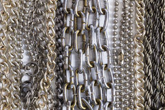 Metal chain. Metal chain on white background Royalty Free Stock Image