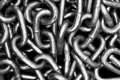 Metal Chaine Link. Metal Chain link with black background Royalty Free Stock Image