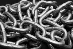 Metal Chaine Link. Metal Chain link with black background Royalty Free Stock Photography