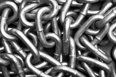 Metal Chaine Link. Metal Chain link with black background Stock Images