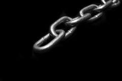 Metal Chaine Link. Metal Chain link with black background Stock Photo