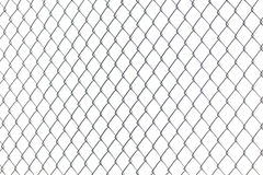 Metal Chainlink Fence. Steel metal Chainlink Fence with white background royalty free stock photos