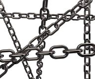 Metal chains disorder Stock Images