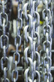 Metal chains in a factory Royalty Free Stock Images