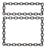 Metal chains frame Stock Photo