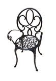 Metal chair. Black metal chair on a white background stock photos