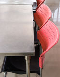 Metal chair and table set Royalty Free Stock Photography