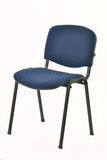 Metal chair with upholstered seat Stock Photo