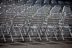 Metal chairs Stock Photo