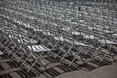 Metal chairs Stock Image