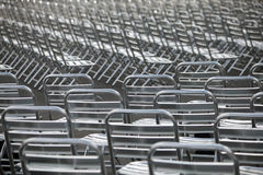 Metal chairs Stock Photography
