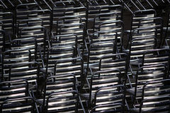 Metal chairs Stock Images
