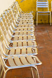Metal chairs Royalty Free Stock Images